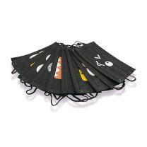 Zwarte Mondkapjes (per 10) LE